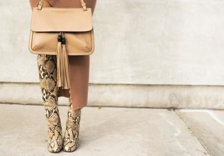 Aimee Song Gucci Python Boots