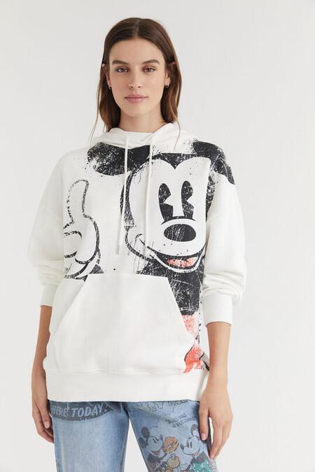 Sudadera capucha algodón ilustración