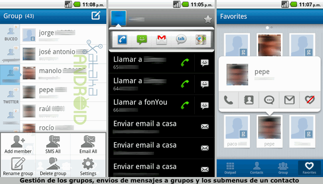 GO Contacts, agenda de contactos