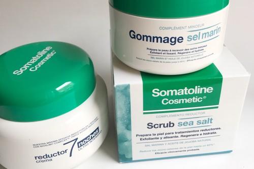 Completamos la rutina de Somatoline con el exfoliante reductor, alisante e hidratante  de sal marina