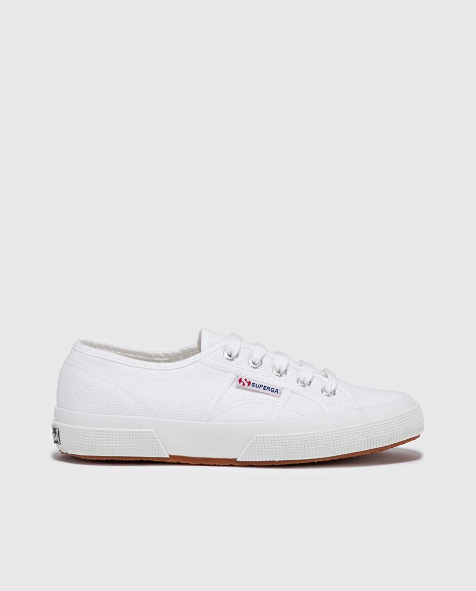 Zapatillas de lona de hombre Superga de color blanco