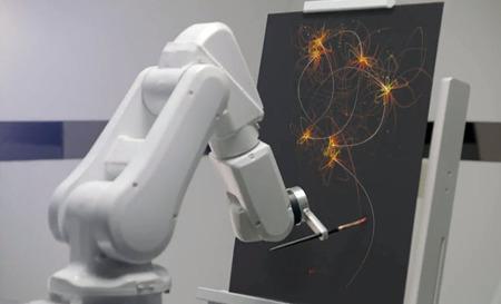 Programan un robot para que pinte 'los sueños'