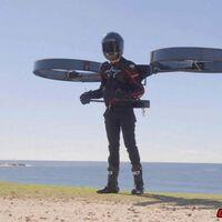 El CopterPack es el último invento para volar: dos hélices enormes a las espaldas del piloto