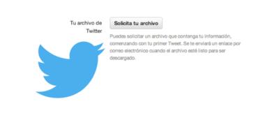 Los usuarios de Twitter en español ya pueden descargar todos sus tweets