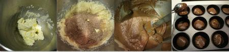 Paso a paso cupcakes de chocolate y moka
