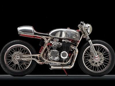 """Ocho años de trabajo y el alma de tres artesanos están encerrados en esta Honda CB550 """"Shogun"""""""