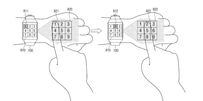 Samsung Patent Numpad Projection Hand 1592x796