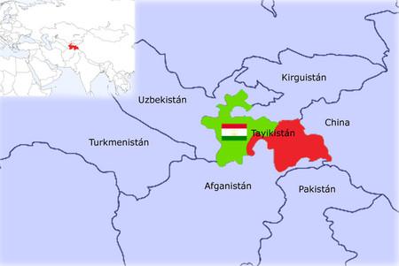 mapa tayikistan