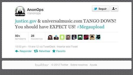 Anonymous ataca el Departamento de Justicia de EUA y Universal Music