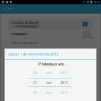 Un bug elimina el mes de diciembre en la app de contactos de Android 4.2