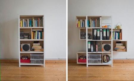 Una estantería que crece según tus necesidades