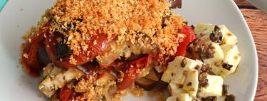 Tian de Berenjena. Receta vegetariana en olla de cocción lenta