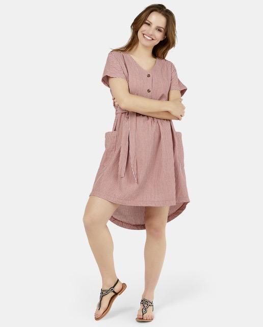 Vestido corto estampado mil rayas