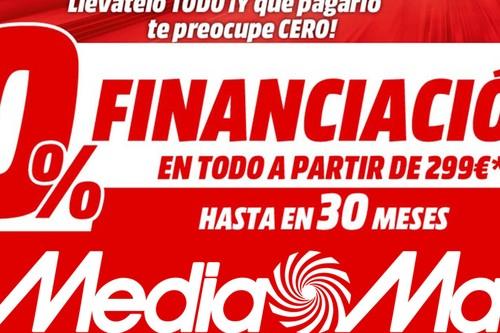 Esta semana, financiación al 0% en los productos en oferta del folleto de Mediamarkt