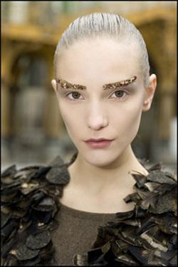 Look dorado desfile Chanel 2012