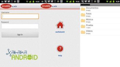 Android en la nube: Wuala