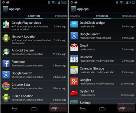 Android 4.3 esconde un gestor de permisos con muchas posibilidades