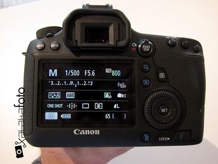 Canon EOS 6D vista pantalla