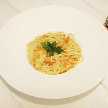 Carbonara con vegetales, receta de salsa para pasta con Thermomix