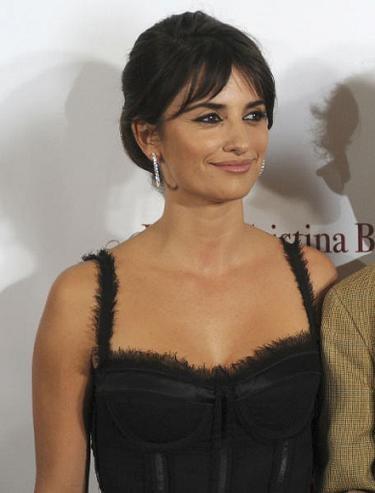 Penélope Cruz en el estreno de Vicky, Cristina, Barcelona, en Barcelona