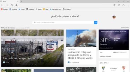Microsoft Edge, toma de contacto y primeras impresiones