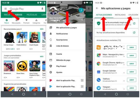 Restaurar Aplicaciones Google Play