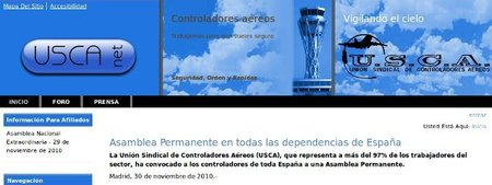Web corporativa y estrategia de comunicación en el caso de los controladores aéreos