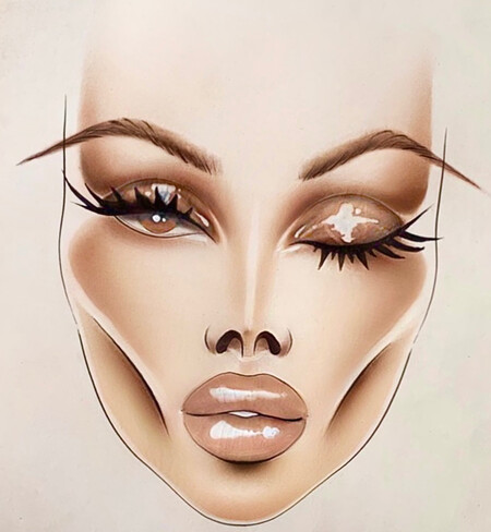 Face Chart Georgina Rodriguez