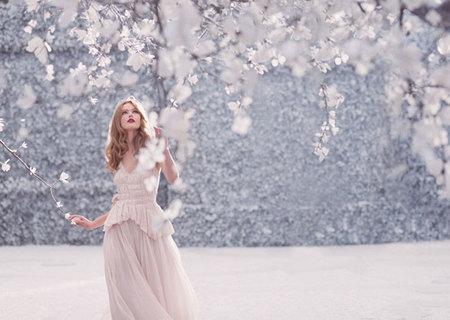 Paseandose entre la nieve