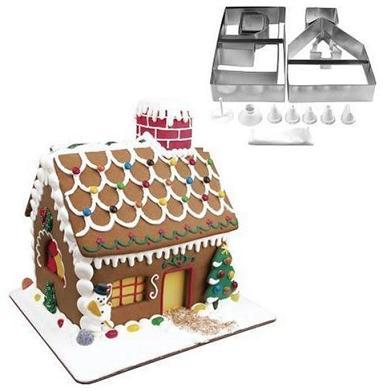 Moldes para hacer un pastel con forma de casita