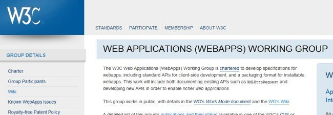 W3C Web Application Group