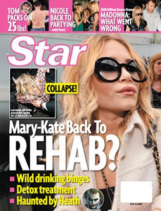 Mary-Kate Olsen podría necesitar rehabilitación