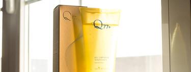 El gel limpiador facial de Q77+ viene con un cepillo vibratorio incorporado que podría competir con el de Foreo