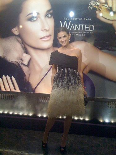 El lanzameinto de Wanted by Helena Rubinstein con Demi Moore como imagen
