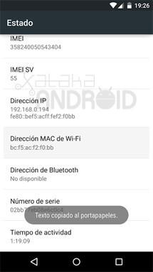 Copiar información del dispositivo