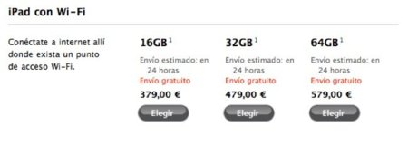 iPad por sólo 379 euros en la Apple Store