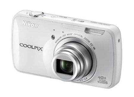 Nikon Coolpix S800c blanco frontal