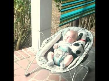 El vídeo del momento: adorable bebé y su cachorro pitbull preparadas para dormir juntas la siesta