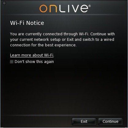 OnLive WiFi