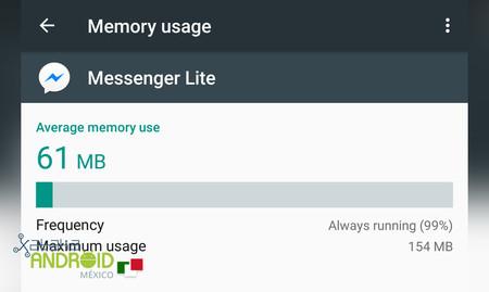 Messenger Lite Memoria