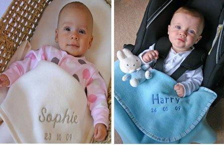 Mantita para bebé personalizada con su nombre
