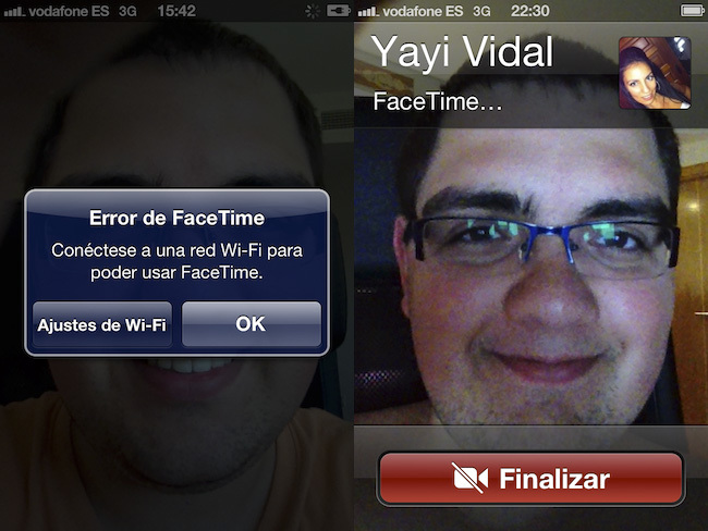 iOS 5 vs. iOS 6, Facetime