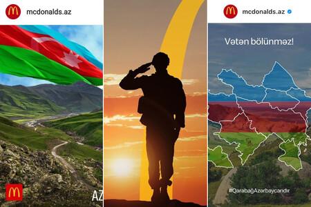 """""""¡Agita la bandera de tu tierra natal!"""": McDonald's se posiciona en el conflicto Nagorno-Karabaj"""