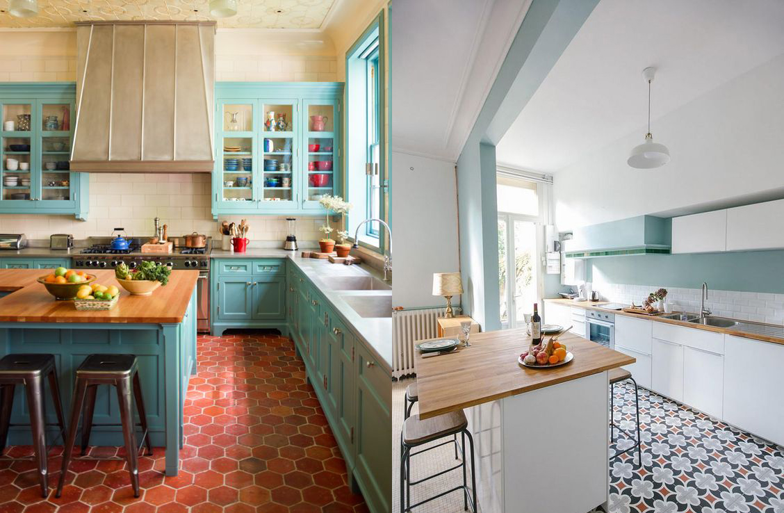 17 ideas de c mo decorar tu cocina con colores azul y blanco - Ideas decoracion cocinas ...