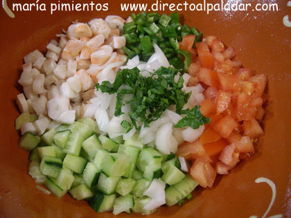 picamos los ingredientes