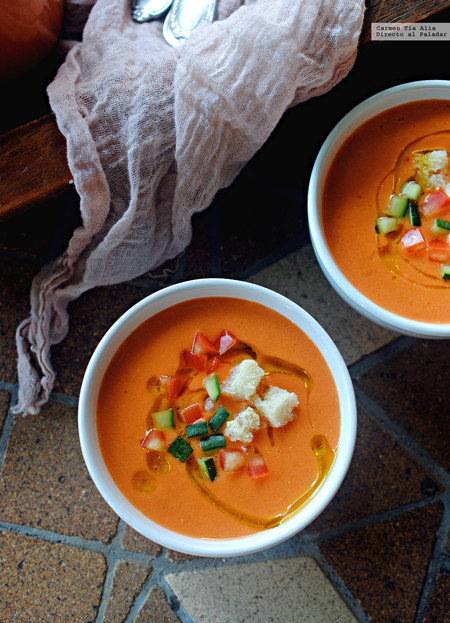 Gazpacho suave de sandía: receta fácil, rápida y refrescante