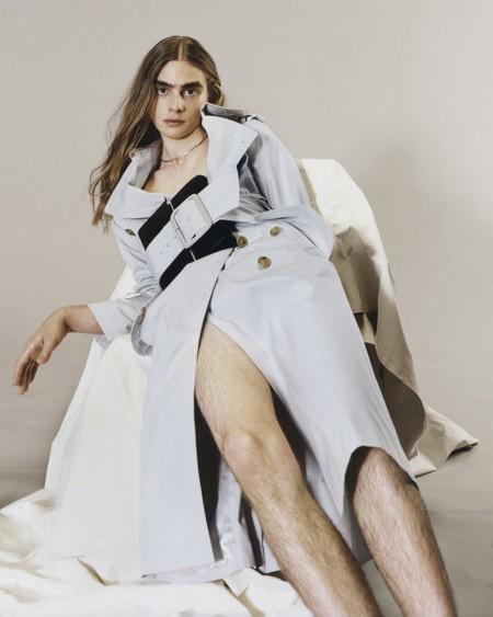 Roan Lounch, el modelo masculino que se coló en el catálogo Resort 2016 de Maison Margiela