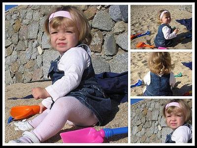 La foto de tu bebé: Laia en la playa