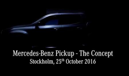 Hoy conocerás a la Mercedes-Benz Pickup Concept, sigue en directo su presentación aquí