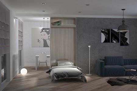 Mueble para ocultar una cama en el salón